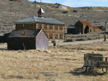 Bodie California scene. Old weather-worn buildings in the ghost town of Bodie California Royalty Free Stock Image