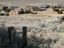Bodie California scene. Old weather-worn buildings in the ghost town of Bodie California Stock Photography