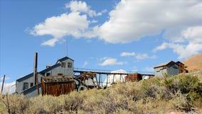 Bodie California - verlaat Mijnbouwspookstad - Tijdtijdspanne - Dag stock videobeelden