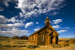 Bodie - the church. The church in Bodie, a ghost town royalty free stock photography