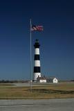 bodie flagę do latarni morskiej wyspy Zdjęcia Stock