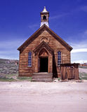 Bodie Ghost Town. View of the front elevation of a timber built Church in the ghost town of Bodie Royalty Free Stock Photo