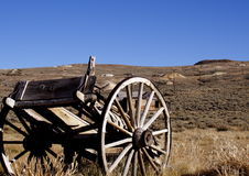 Bodie Ghost Town. An old wagon in a ghost town royalty free stock photo