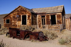 Bodie Ghost Town. An abandoned home in an old ghost town stock photo
