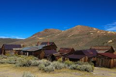 Bodie Ghost Town California State Park, USA royalty free stock image