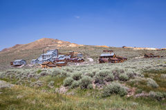 Bodie Ghost Town in California, USA. Bodie is a ghost town in the Bodie Hills east of the Sierra Nevada mountain range in Mono County. The ghost town Stock Photos