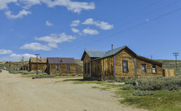 Bodie. Is a ghost town in the  Hills east of the Sierra Nevada mountain range in Mono County, California, United States Royalty Free Stock Photo