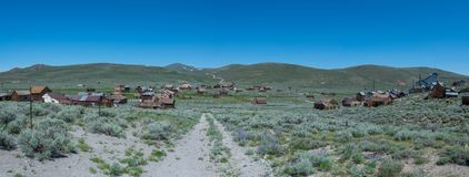 Bodie Ghost Town Panorama Royalty-vrije Stock Foto