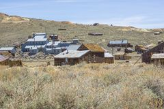 Bodie Ghost Town Stamp Mill arkivbild