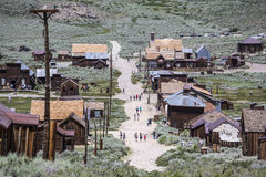 Bodie Ghost Town Tourists Fotos de archivo
