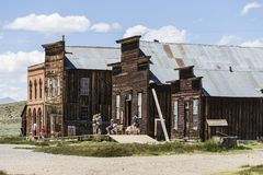 Bodie Ghost Town Tourists Royalty Free Stock Photo