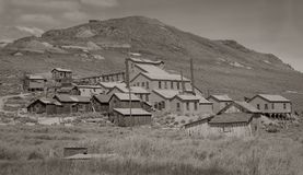 Bodie Goldmine no tom do Sepia imagem de stock