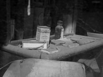 Bodie History. Old medical supplies at the historic ghost town of Bodie in the California Sierra Nevada Stock Images