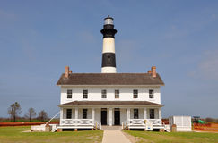 Bodie Island Lighthouse, NC, USA. Bodie Island Lighthouse and keeper's quarters in Cape Hatteras National Seashore, south of Nags Head, North Carolina, USA stock images