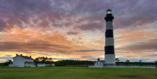 Bodie Island Lighthouse. Bodie Island Lighthouse, built in 1872, is just south of Nags Head, a few miles before Oregon Inlet along the Outer Banks of North stock photo
