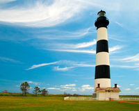 Bodie Island Lighthouse in de Zomer Royalty-vrije Stock Foto