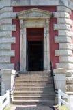 Bodie Island Lighthouse histórico no litoral nacional de Hatteras do cabo nos bancos exteriores de North Carolina fotos de stock