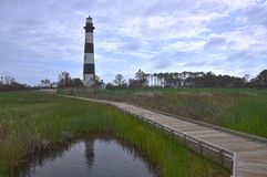 Bodie Island Lighthouse, NC, USA. Bodie Island Lighthouse in Cape Hatteras National Seashore, south of Nags Head, North Carolina, USA stock images