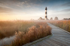 Bodie Island Lighthouse North Carolina Outer Banks Autumn Landscape Scenic Royalty Free Stock Image