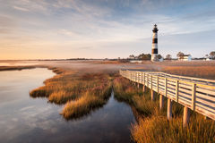Bodie Island Lighthouse North Carolina Outer Banks Scenic Royalty Free Stock Image