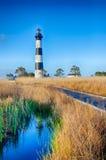 Bodie Island Lighthouse OBX udde Hatteras Royaltyfria Foton