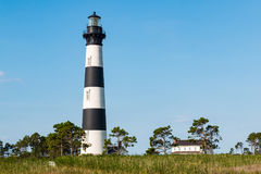 Bodie Island Lighthouse and Surrounding Buildings. On the Outer Banks of North Carolina near Nags Head royalty free stock photos