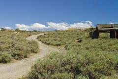 Bodie Kalifornien den gammala spolningsvägen Arkivbilder