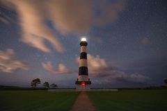 Bodie Lighthouse la nuit Images stock