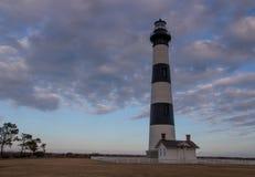 Bodie Lighthouse på skymning Royaltyfri Foto