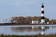 Bodie Lighthouse in Reflecting Pond Royalty Free Stock Photos