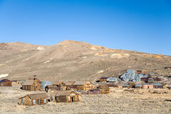 Bodie mine. Wide angle view of the Bodie ghost town in California Stock Photography