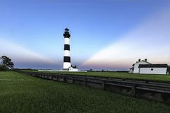 Bodie Sunset. Bodie Lighthouse, Outer Banks, North Carolina at sunset Stock Image