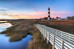 Bodie wyspy latarni morskiej przylądek Hatteras Pólnocna Karolina Obrazy Stock