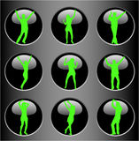 Bodies on the Buttons Royalty Free Stock Image