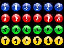 Bodies on the  Buttons Royalty Free Stock Photos