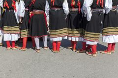 Bodies of Serbian Folklore. Close up royalty free stock photo