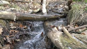 Bodies of water. Cascading creek with icicles stock video
