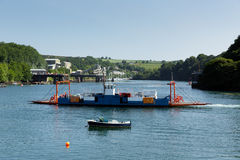 Bodinnick car ferry crossing Fowey River Cornwall Royalty Free Stock Photography