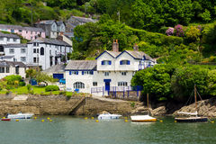 Bodinnick Cornwall. View across to Bodinnick and Ferryside from Fowey Cornwall England UK Stock Photography