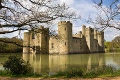 Bodium城堡在东萨塞克斯郡,英国 库存照片