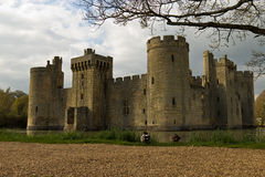 Bodium城堡在东萨塞克斯郡,英国 库存图片