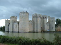 Bodium Castle under storm clouds Stock Image