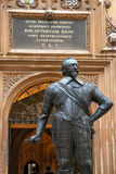 Bodleian Library, Oxford, England. Statue of William Herbert, 3rd Earl of Pembroke. Bodleian Library, Oxford, UK Royalty Free Stock Images