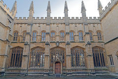 Bodleian Library in Oxford, England. Exterior image taken of oxford`s bodleian library,Oxford, England Stock Photography