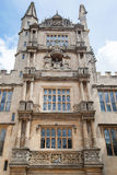 Bodleian Library Oxford England. The facade of Bodleian Library in Oxford, England Royalty Free Stock Images