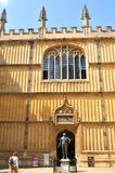 Bodleian Library, Oxford, England. OXFORD, UK - JULY 10, 2014: Architectural detail of the Bodleian Library, Oxford, United Kingdom Royalty Free Stock Photography