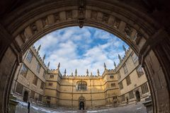Bodleian library in Oxford in the morning, UK. Bodleian library in Oxford in the morning, United kingdom Royalty Free Stock Photos