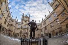 Bodleian library in Oxford in the morning, UK. Bodleian library in Oxford in the morning, United kingdom Royalty Free Stock Images