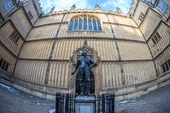 Bodleian library in Oxford in the morning, UK. Bodleian library in Oxford in the morning, United kingdom Royalty Free Stock Image
