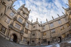 Bodleian library in Oxford in the morning, UK. Bodleian library in Oxford in the morning, United kingdom Stock Photography